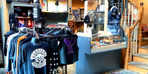 Biker's Haven boutique is located inside of the Haldimand House Marketplace.