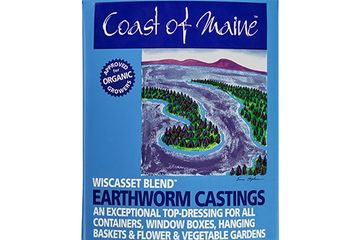 COAST OF MAINE WISASSET BLEND.  EARTHWORM CASTINGS.  OMRI CERTIFIED.  ENRICHES POOR SOIL.