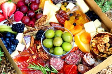 Zoom happy hour appetizer to-go platter charcuterie imported cheese delivery  appetizer trays