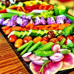 Zoom happy hour appetizer to-go platter crudite vegetable board delivery  appetizer trays party tray
