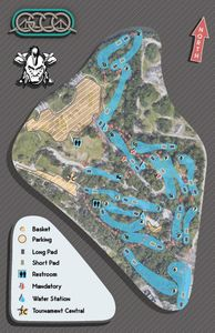 Maximo course map for Gulf Coast Charity Open