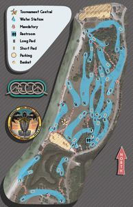 Picnic Island course map for Gulf Coast Charity Open