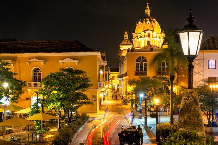 Cartagena´s old town at night