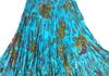 "7964 - Turquoise 36"" Sequins Skirt"