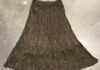 "2305 Brown- Rayon Jacquard 32"" 3 tier skirt w sheen has same color shiny paisley pattern"