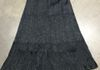 "2305 Black - Rayon Jacquard 32"" 3 tier skirt w sheen has same color shiny paisley pattern"