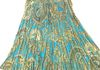 "2282 Turq - 28"" Mid Length Sequins Skirt"