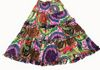 2217 - Purple/Multi Long Cotton Tiered Skirt with Ruffles along Tiers
