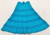 2184 - Solid Cotton Turquoise Skirt with Turquoise Crochet Tiers Note: Also available in Solid White version