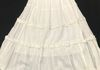2269 - Solid White Long Cotton Tiered Skirt with Ruffles along Tiers