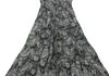 2320 - Blk/Grey Paisley Sequins Neck Line Sundress, adjustable straps and elastic all around under chest, Sized S-XL