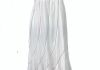 7873WM - White w Multi Solid Color Thread Swirls, adjustable straps and elastic smock back, Sized S-XL