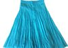 "7388 - Turquoise  28"" Prairie Solid Mid Length Skirt w Frayed Tiers Also Comes In: Black & Copper"