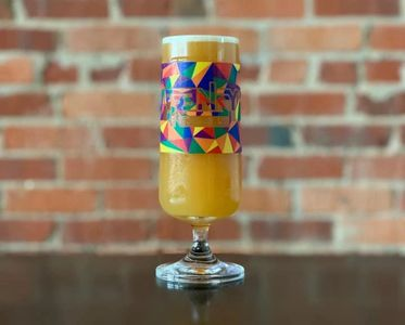 Pride glasses created by Frenzy Brewing Company. Proceeds benefited PFLAG OKC!