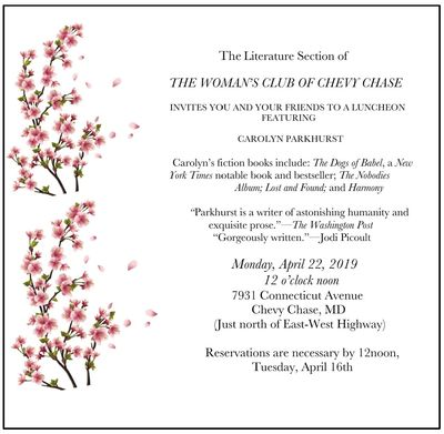 The Woman's Club of Chevy Chase, Literative Section Luncheon