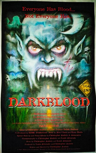 Poster for Dark Blood by Jason Rodriguez