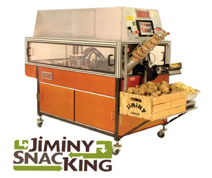Jiminy SnacKing Machine. Self-contained, Oil maintenance, air filtration, Fire safety built-in, production of GIANT CHIPS (without folding).