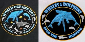 World Ocean's Day shirts and products Stop Hunting Whales