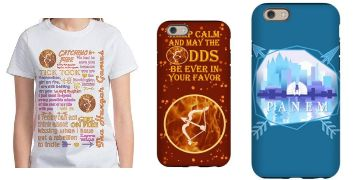 The Hunger Games shirts and cases