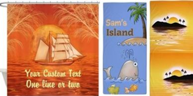 Personalized Beach designs on home products