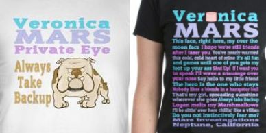Veronica Mars TV show t-shirts and products