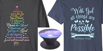 Christian shirts sweatshirts and popsockets at Amazon