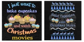 Bake and watch Christmas Movies shirts