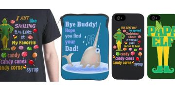 Buddy the Elf Movie shirts bags products