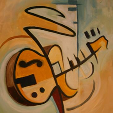 Jazz art and abstract art seem to go hand in hand. Jazz guitar art and jazz music art is a passion.