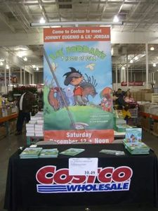 I had fun doing book signings at Costco,  Barnes & Noble, and the 2012 A T & T Pebble Beach Pro Am.