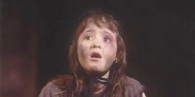 "From age 7 to 8, Faith Trent toured as ""Young Cosette"" with Third National Touring Company in Les Mi"
