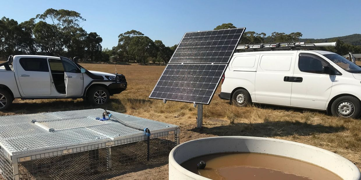Solar pumping system - Hanging Rock , Victoria