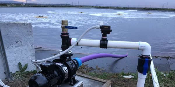 Leachate pumping and aeration