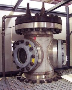 view of 550 psig pressure test chamber