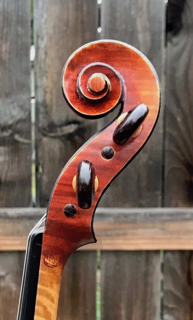 Violin Scroll hand carved by John Hill