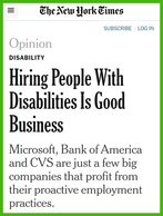 This is an article regarding Autism employment in the New York times.