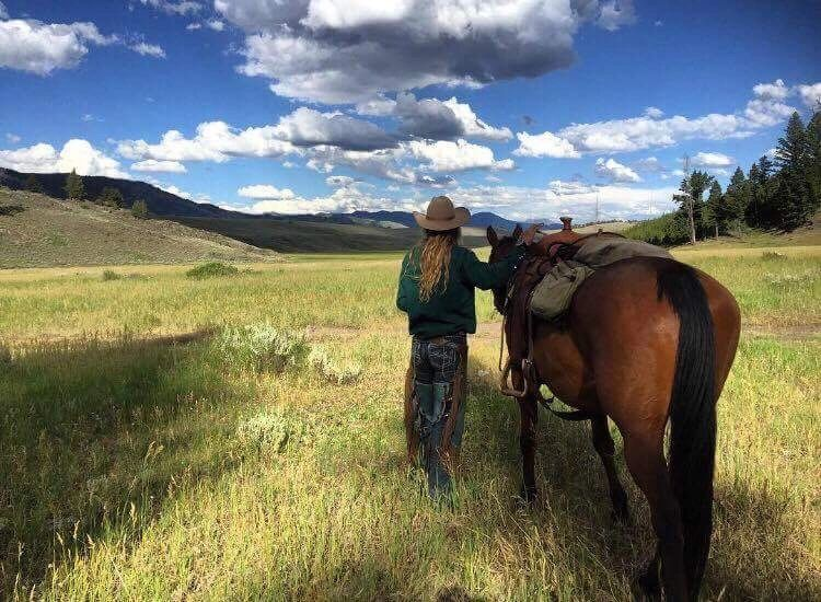 Horseback riding in Yellowstone National Park