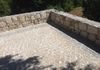 Granite pavers and stone walls