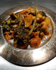 Moroccan Style Mixed Vegetables & Legume Tangine.