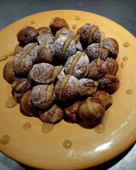 Gluten-Free Plantain  Aebleskivers w/ Plantain Syrup..