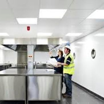 safety flooring in commercial kitchen area
