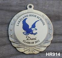 "HR914 MEDALLION WITH INSERT 2.75""DIAMETER WITH 7/8""X32"" NECK RIBBON"