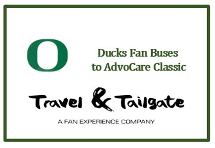 Oregon Ducks Fan Bus to AdvoCare Classic @ AT&T Stadium.  Round-trip transportation.