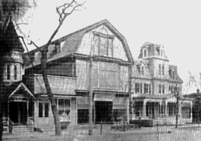 Kings Highway view of funeral home circa late 1800s