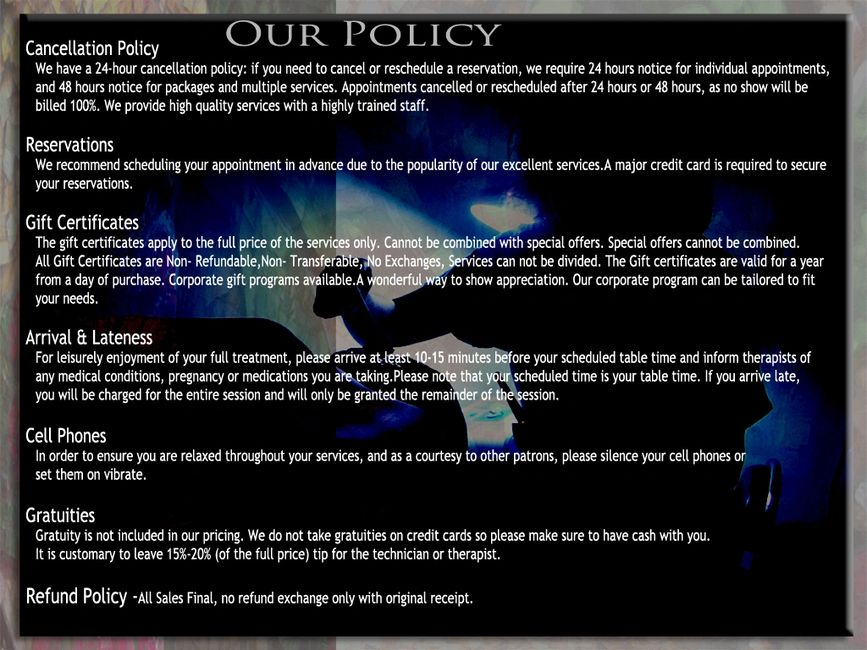 Our Policy | DaisySpa