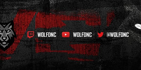WOLFDNC social links, Twitter, youtube and Twitch.