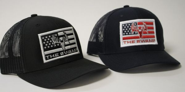 The Swamp Whitetails Flag Patch Hats