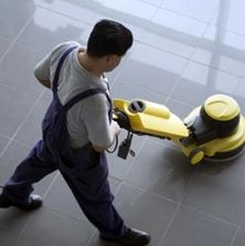 When you scrub, strip, wax, & buff floors, they will reflect the value of your client's business