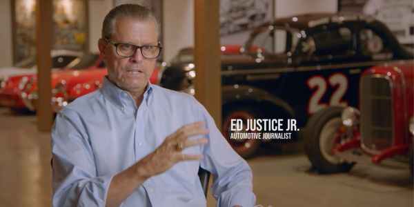 Ed Justice Jr. on MOTOR TREND 500 NASCAR race documentary.