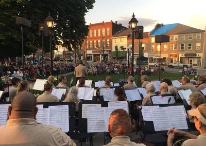 Mercer County Courthouse Concert in August, 2019